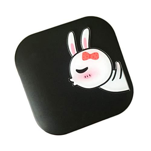 Milisten Kontaktlinsen-Reiseset Kaninchenmuster Kontaktlinsenbehälter Behälterhalter mit Pinzette Und Lösungsflaschenspiegel für Frauen Mädchen