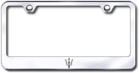 Regular discount New Stainless Steel Max 89% OFF Chrome Maserati Logo Plate Frame W License B