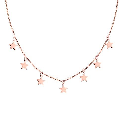 SINGULARU  - Collar Mini Stars Oro Rosa - Joyas mujer