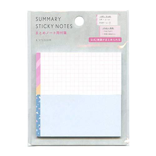 SUMMARY STICKY NOTES paper【ミックスタイプ】まとめノート用 付箋 かわいい