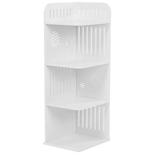 3 Tier Corner Shelf, Modern Carved Wall Mounted Corner Shelf Shelves Display Carved Dampproof Storage Rack Unit Bookcases Toiletries Holder Organizer for Bedroom Living Room, 80cm x 29cm x26cm
