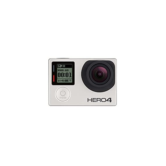 GoPro Hero 4 Silver Edition 12MP Waterproof Sports & Action Camera Bundle with 2 Batteries 4 Built-in touch display for easy camera control, shot-framing and playback,Protune with SuperView delivers cinema-quality capture and advanced manual control for photos and video with the world's most immersive wide-angle field of view Professional 1080p60 and 720p120 video with 12MP photos at up to 30 frames per second. Video Supported: 4K15 / 2.7K30 / 1440p48 / 1080p60 / 960p100 / 720p120 fps Built-in Wi-Fi and Bluetooth support the GoPro App, Smart Remote and more