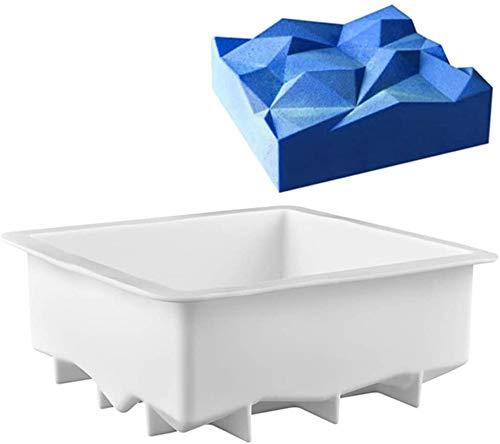Amira Quadratische Form Silikon Kuchen mit Deutsche Markenqualität 3D Backform backformen Silikon-Rückform Stollenbackform silikonbackformen