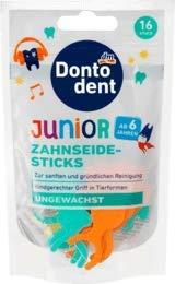 DONTODENT Zahnseide-Sticks Junior, 16 Stück