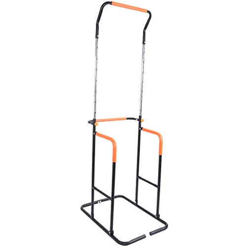 ZJS Multi-Function Power Tower, Adjustable Height Pull up Bar Dip Station for Strength Training, Workout Abdominal Exercise, Push up Equipment of Home Gym Exercise