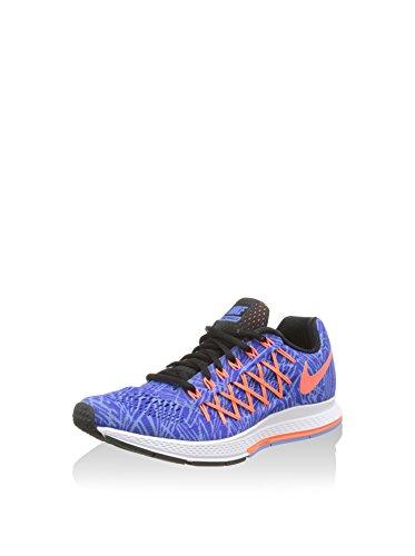 Nike Wmns Air Zoom Pegasus 32 Print, Scarpe da corsa Donna, Blu/Arancione/Nero, 36.5 EU