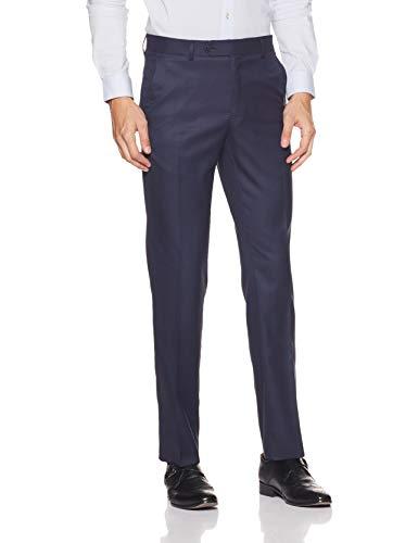 Van Heusen Men's Drop Crotch Formal Trousers (VHTFBSLBV67539_Dk Blue_36)