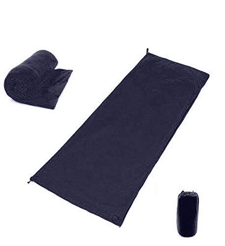 ASDFA Bolsa de dormir portátil de forro polar ultraligero para acampar al aire libre tienda de campaña cama de viaje cálido saco de dormir Liner