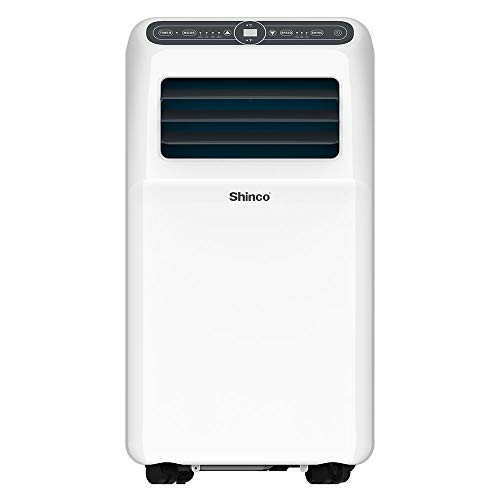 SHINCO 10,000 BTU Portable Air Conditioner, 3-in-1 Floor AC Unit, Dehumidifier and Fan for Rooms Up to 300 Sq.Ft, Digital LED Display, Remote Control