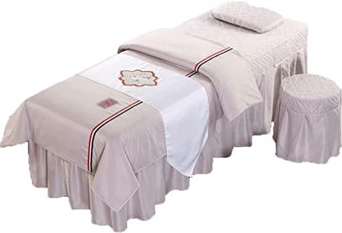 Juegos de sábanas para Mesa de Masaje, Funda de Cama de Belleza para SPA, Funda para Falda de Mesa de Masaje Four Seasons, colchas de Belleza, salón Europeo