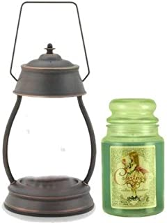 Hurricane Oil Rubbed Bronze Candle Warmer and Courtneys 26 oz Candle - Pineapple Paradise