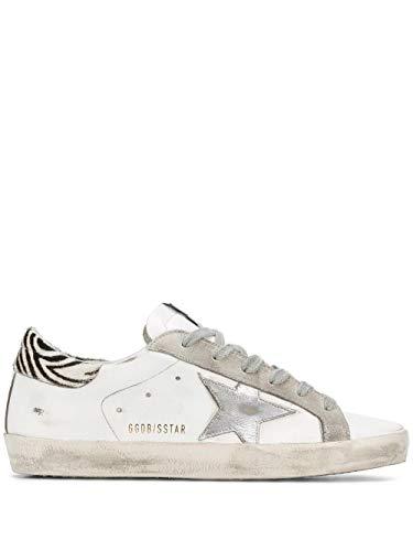 Moda De Lujo | Golden Goose Mujer G36WS590V29 Blanco Cuero Zapatillas | Temporada Permanente