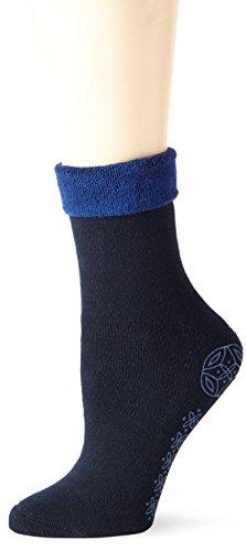 Elbeo Damen W mit ABS-Prin Socken, Blau (Nachtblau 9756), 42 (Herstellergröße: 39-42)