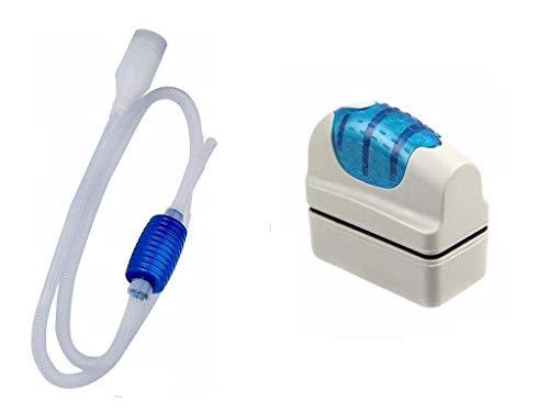 Aquosis Crystal Aquarium Vacuum Cleaner+ Rs Electrical Aquarium Magnetic Glass Cleaner (Rs-06)
