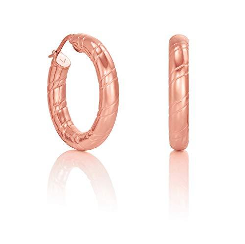 Pendientes aro Viceroy Fashion de acero antialérgico color rosado modelo 6421E11019