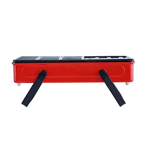 KTYX Barbacoa Portátil De Carbón De Leña Parrilla De Humo Sin Humo Barbacoa Variedad De Colores 56 * 18 * 14.5cm (Color : Red)