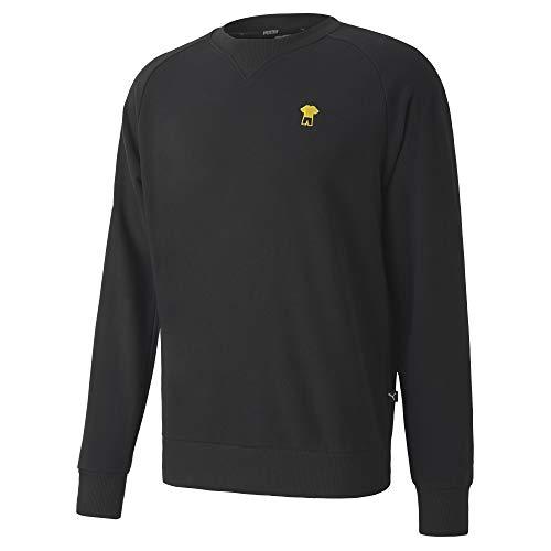 PUMA Herren BVB FtblFeat Game Sweater Pullover, Black, L