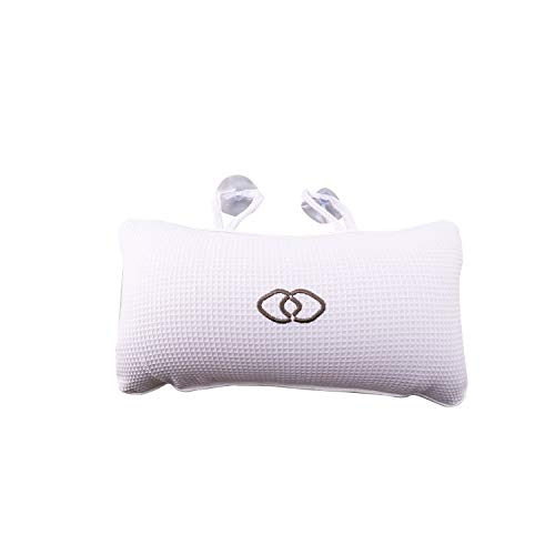 Luntus Bathroom Product Accessories Non-Slip Bathtub Spa Pillow Bath Cushion with Suction Cups Head Support Neck Massage Pillow Cushion