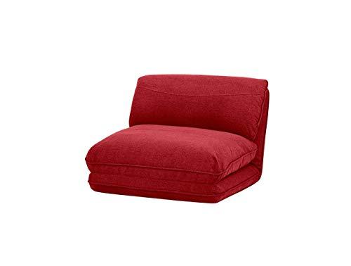 AmazonBasics - Poltrona letto, 78 x 82 x 58 cm, rosso