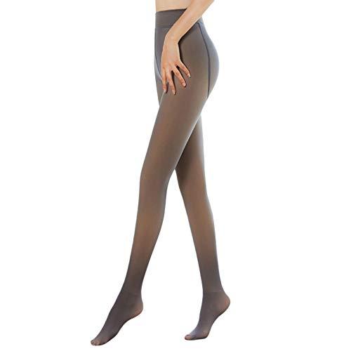 Banane - Leggings de cintura alta para mujer, con forro polar, gruesos y elásticos, para el control del vientre