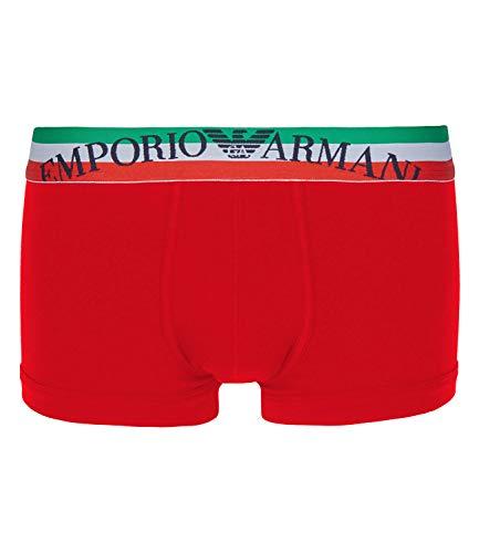 Emporio Armani Herren Boxershorts Boxer Trunk Stretch Cotton 0P510-111866, Farbe:Rot, Wäschegröße:L, Artikel:-00074 red