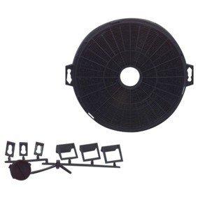 2x Dunstabzugshauben Aktiv Kohlefilter Universal 210mm rund SET