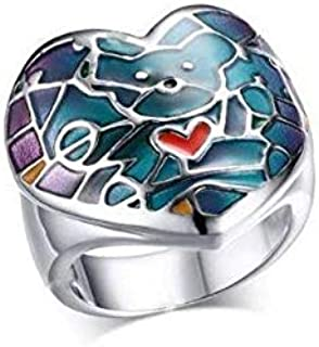 Ring Women Silver and Blue Size 8
