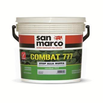 San Marco COMBAT 777 Pittura per interni traspirante igienizzante antimuffa, colore: Bianco, size: 4 lt
