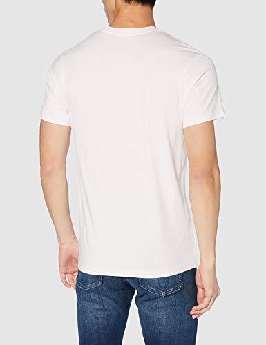 Vans Easy Box SS T-Shirt, Cool Rosa-Nero, M Uomo