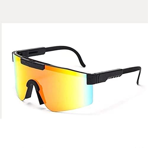 ZXQ Pit-Vipers Gafas de Sol Polarizadas Ciclismo UV400 Gafas de Sol Deportivas a Prueba de Viento para Exteriores para Mujeres y Hombres (Color : C4, Tamaño : 5.4in x4.4in x2.3in)