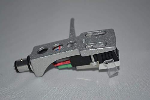 Silver platenspeler headshell houder met cartridge voor Kenwood KD3055, KD4033, KP1022, KP2021, KP2022, KP3021, HD2077, KD3070 draaitafel