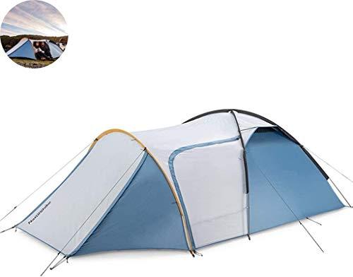 LAZ Tents 2 – 3 personas, una habitación y un pasillo, tiendas de campaña para acampar, carpa costera con diseño extendido de pasillo de entrada, configuración rápida (color: gris)