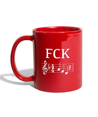 FCK Nazis D-Moll Statement Tasse einfarbig, Rot