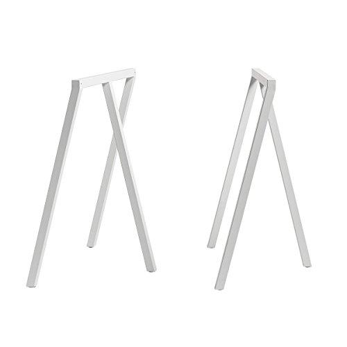 HAY Loop Stand Tischböcke 2er Set, weiß pulverbeschichtet BxHxT 64,5x72x37cm