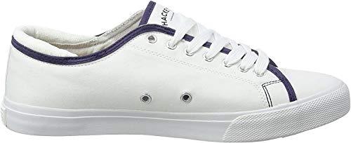 Hackett Herren Mr Classic Plimsole Sneaker, Weiß (White), 44 EU