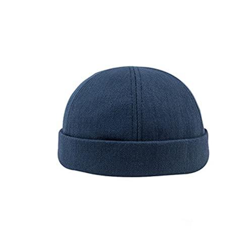 Primavera, verano y otoño hombres y mujeres color puro boina casual sección delgada sombrero, Navy, Talla única,