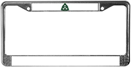 LilithCroft99 Funny Green Celtic Knot License Plate Frame License Plate Frame Chrome Metal,Novelty License Plate Cover,Auto License Car Tag Holder, Gifts for Men,for Women,Wife,Husband