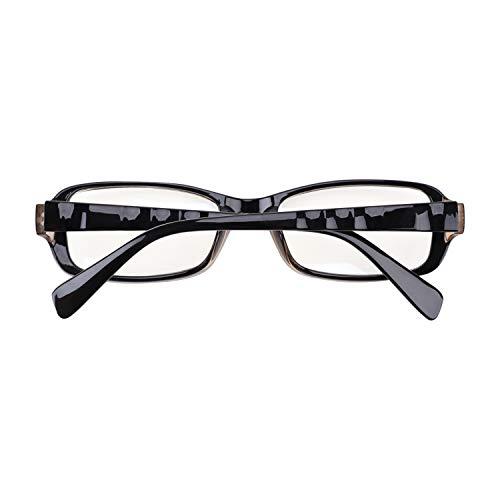 YSXY Klassiche Nerdbrille Sonnenbrille Dekogläser 60er Jahre Retro Vintage Unisex Brille Anti-Strahlung (Tee-c40)