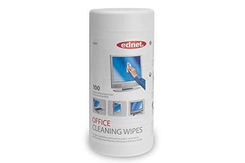 Ednet 100 feuchte EDV-Reinigungstücher in Spenderbox