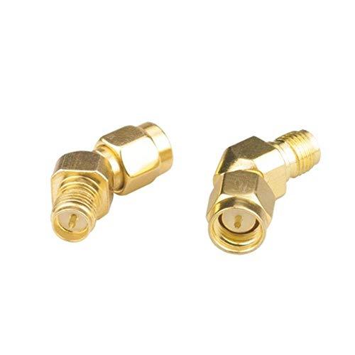 Condensadores Conector de Adaptador de Antena de 45 Grados SMA Male a RP-SMA for RX5808 FATSHARK 2PCS