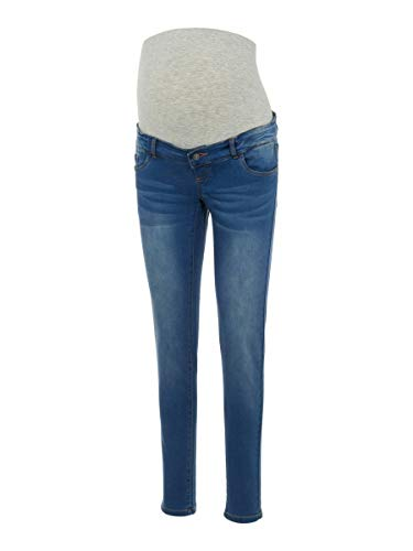 MAMALICIOUS Mama Licious Female Umstandsjeans Slim Fit 3232Medium Blue Denim