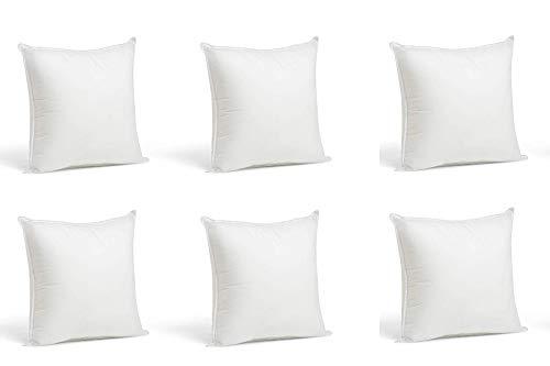 6 Rellenos cojines sofa hipoalergénicas para funda cojines decoracion y para almohadas de cama (Pack 6 50x70)