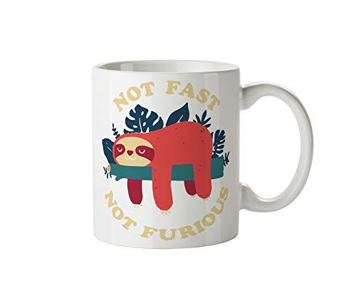 Sloth Not Fast Not Furious_TK256 White Mug
