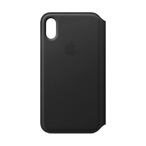 Apple Custodia Folio in pelle (per iPhoneX) - Nero