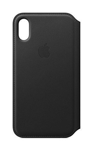 Apple Leather Folio (for iPhone X) - Black