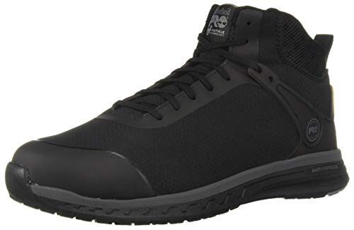 Timberland PRO Men's Drivetrain Mid Composite Toe Industrial Boot, Black, 12 M US
