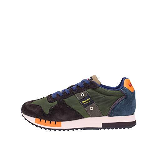 Blauer QUEENS01 Sneakers Hombre Marrón/Verde obscuro 40
