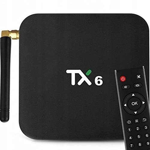 Retoo Smart TV Box con mando a distancia para TV, Android TV Box con procesador de cuatro núcleos de 2,4 GHz, reproductor multimedia con resolución 4K y Full HD, convertidor (32 GB de RAM DDR3)