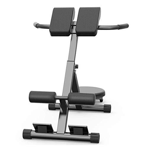 Folding römischen Stuhl Fitness-Stuhl Multifunktions-Zwirnmaschine Ziege Taille nach Hause Fitnessgeräte tragender 300KG (Color : Black, Size : 117 * 55 * 86cm)
