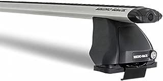 Rhino Rack 1999-2006 Compatible with Volkswagen Golf MK4 1999-2005 Jetta 2500 Multi Fit Aero Roof Rack System Silver JA2010